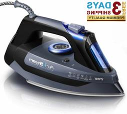 1700W Steam Iron for Clothes, Rapid Even Heat Scratch Resist