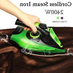 2400W 220V Cordless Steamer Wireless Steam Iron Clothes Iron