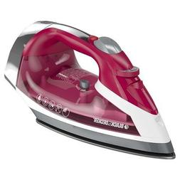 BLACK + DECKER Stainless Steel Sole Plate Steam Iron