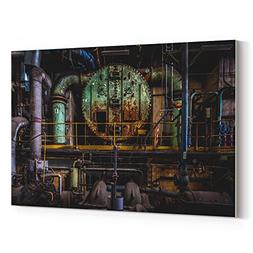 Westlake Art - Industrial Factory - 5x7 Canvas Print Wall Ar