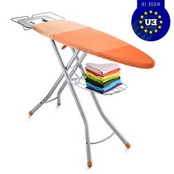 Adjustable Ironing Board with Cover Steam Iron Rest Storage