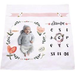 Baby Monthly Milestone Blanket   Throw for Infant & Babies 0