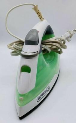 BLACK+DECKER Easy Steam Anti-Drip Compact Steam Iron, Green,