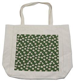 Lunarable Casino Shopping Bag, Cartoon Style Dices Pattern o