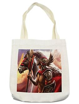 Lunarable Fantasy World Tote Bag, Royal Man with Curved Gear