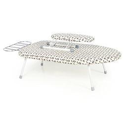 Fun life Foldable table top ironing board,Steel top mesh sma