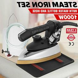 Gravity Feed Electric Steam Iron Water Bottle Ron Rest Fast