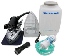 Hand Iron Steamer For Clothes Steam Press Gravity Feed Bottl