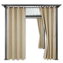 Outdoor Indoor Patio Curtain Drape - RYB HOME Mildew Resista