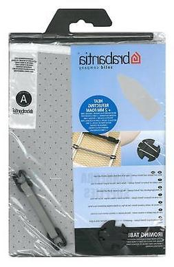 BRABANTIA IRONING BOARD COVER A 110 x 30cm SILVER METALLISED