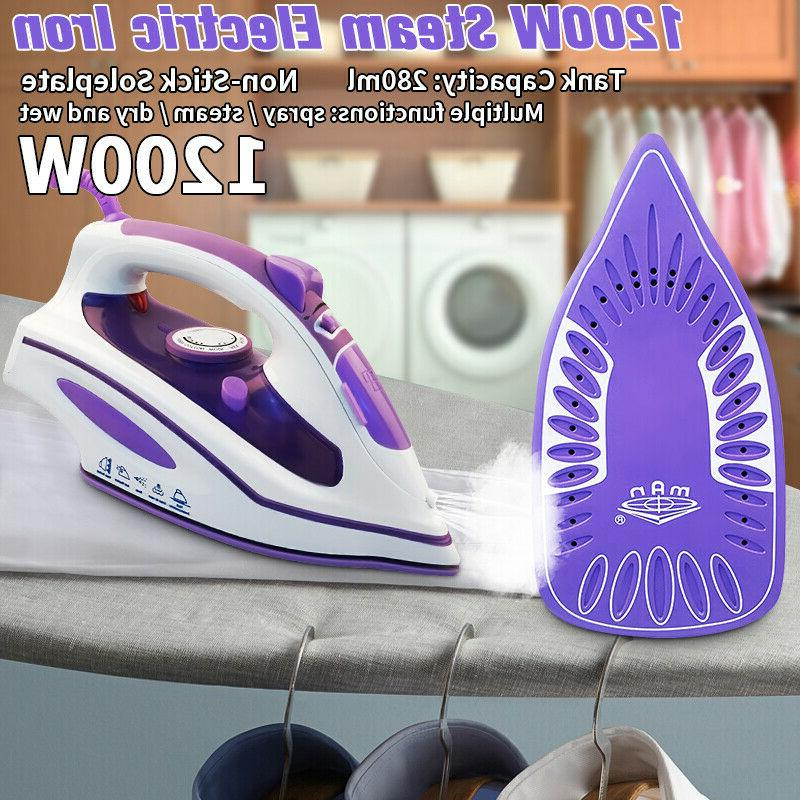 1200w electric steam iron clothes fabric laundry