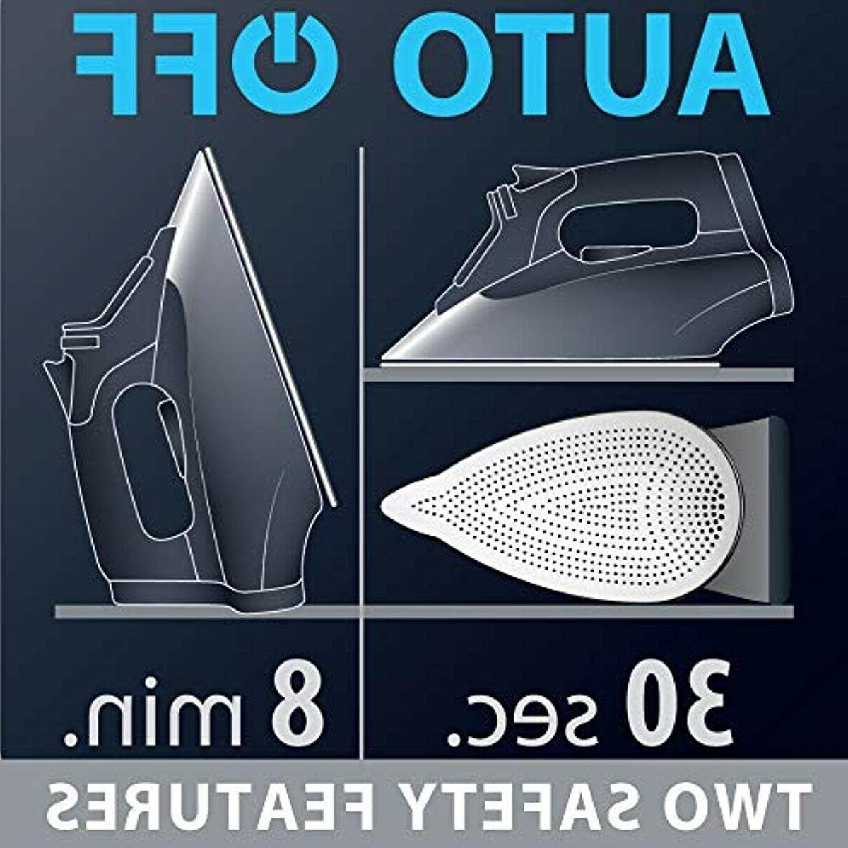 Rowenta 1700-Watt Micro Iron Steel Soleplate with Auto-Off, 400-