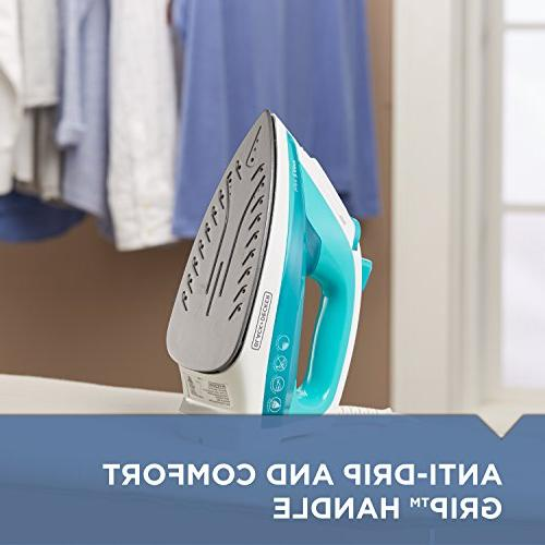 BLACK+DECKER Light 'N Compact Steam Iron, Turquoise, IR1010