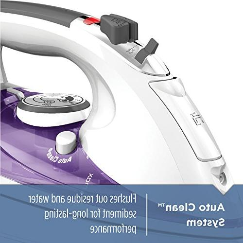 BLACK+DECKER Professional Iron with Extra Large Purple,