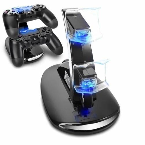 PS4 Controller Dock Stand USB Port Base