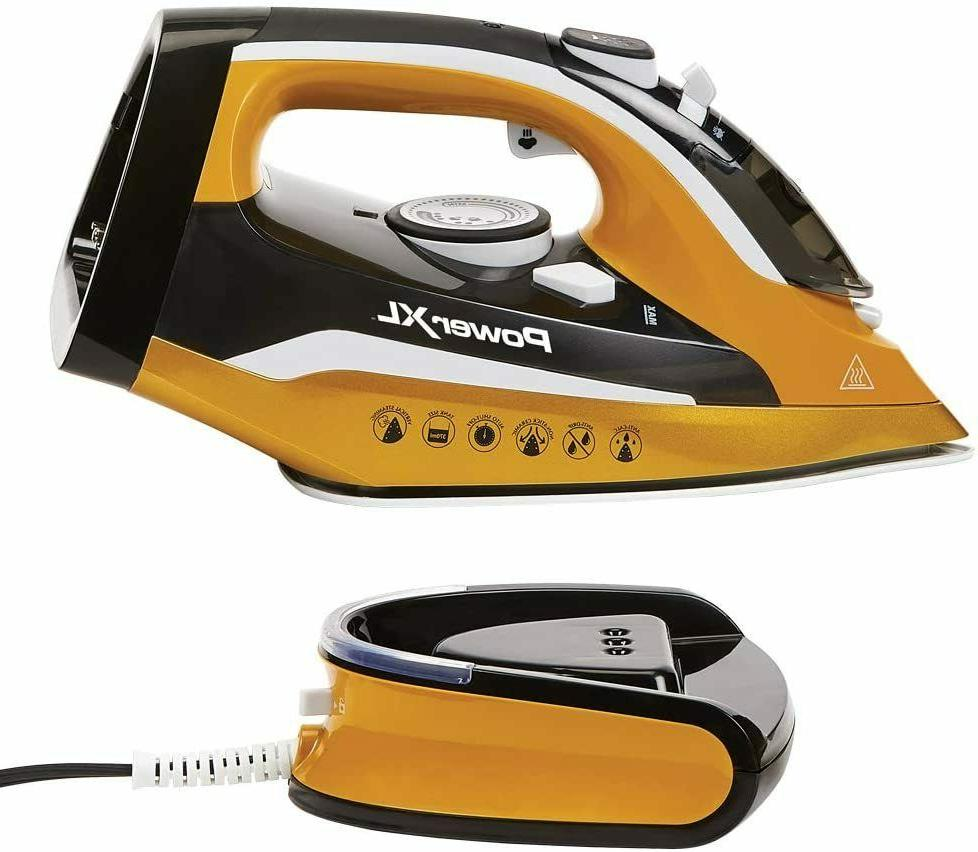 Power On TV Cordless and Steamer 1400W with Power Base, New