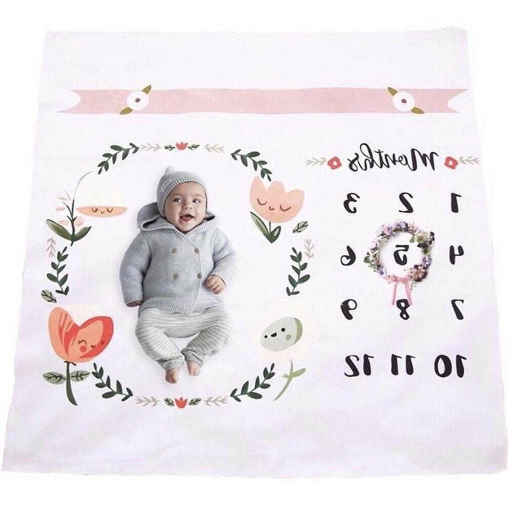 baby monthly milestone blanket throw