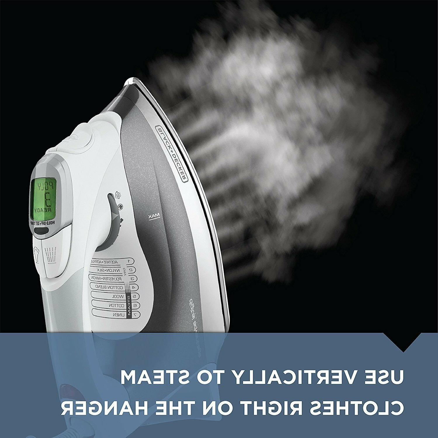 BLACK+DECKER Steam Iron, Gray, D2030