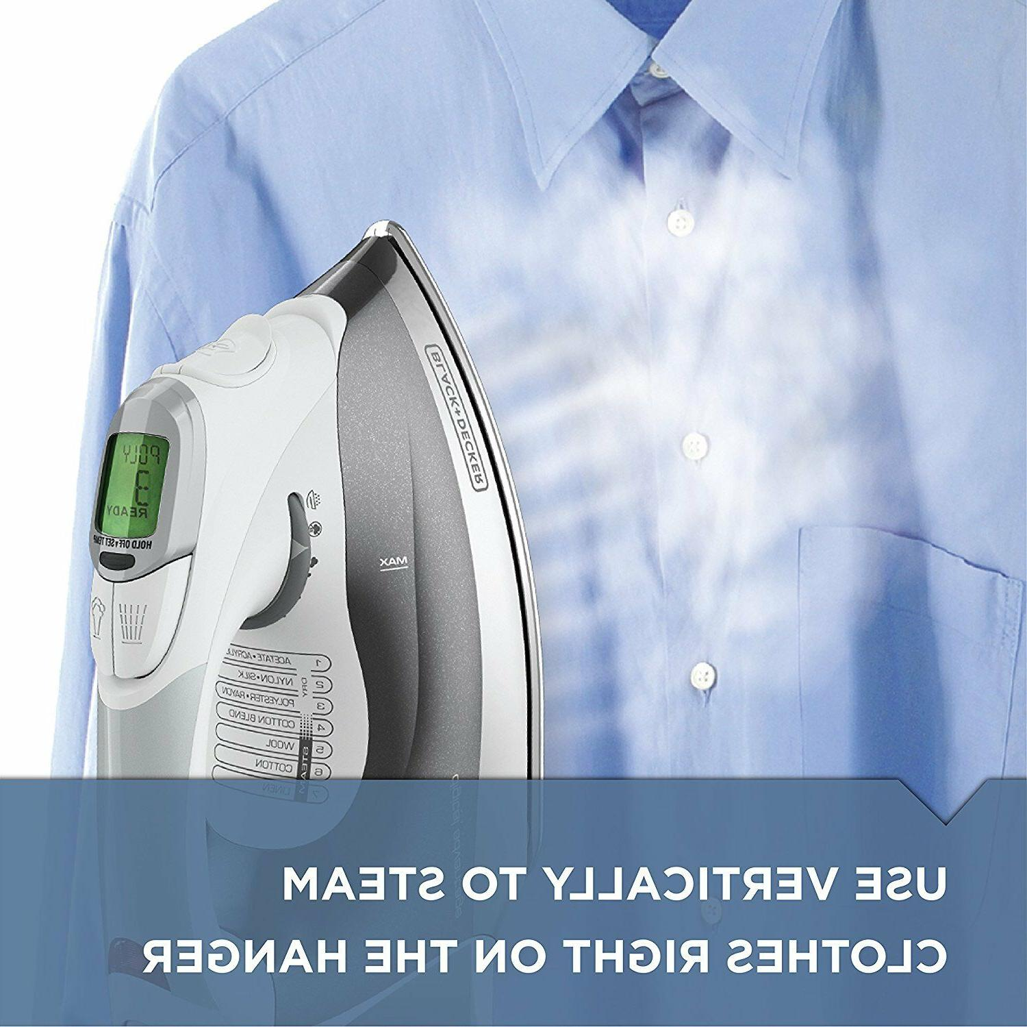BLACK+DECKER Steam Iron, LCD Gray, D2030