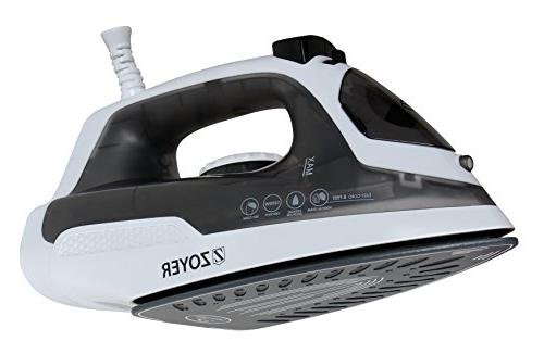 ZOYER 1200-Watt for Clothes with Ceramic Soleplate - Light-Weight Medium-Sized with for Travel & - Gray