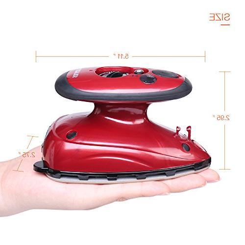 SMAGREHO Mini Travel Iron Dual Anti Slip Handle Non-Stick