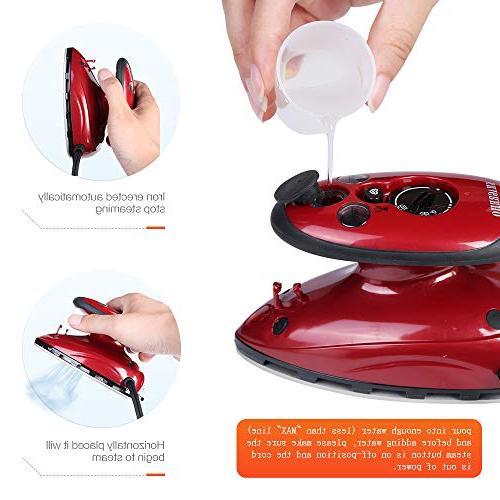 SMAGREHO Mini Travel Steam Iron Anti Slip Handle Non-Stick Teflon Soleplate Iron
