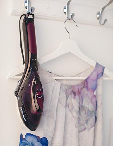 Rowenta 1 Held Fabric Iron Includes Brush, Lint Pad, and Purple