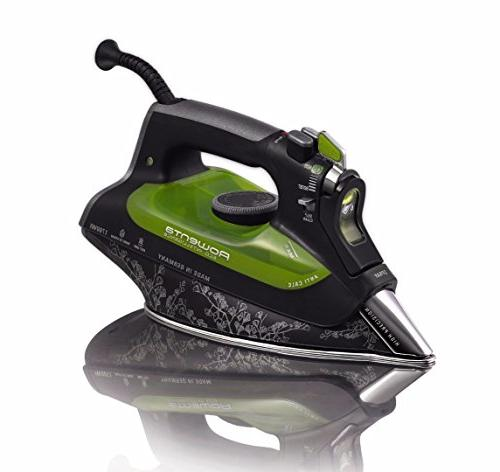 Rowenta Energy Saving Stainless Soleplate Auto-Off, 400-Hole, Black Includes Ironing Cover and