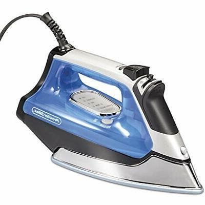 electronic irons ceramic nonstick soleplate steam blue