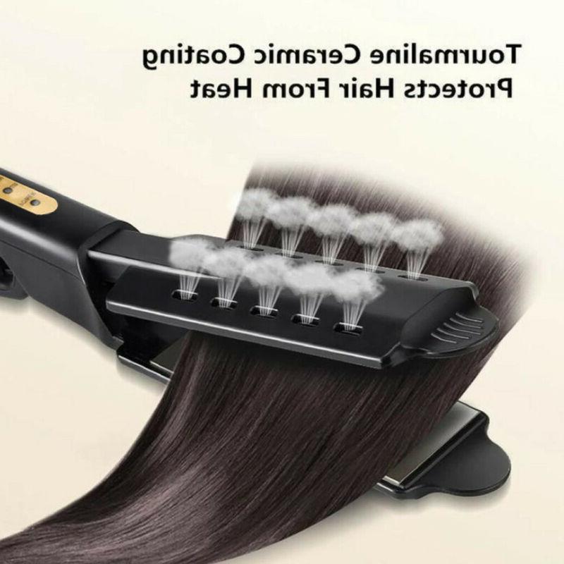 Four-gear Ceramic Tourmaline Women Ionic Heat-Steam Hair Straightener