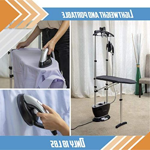 Steam and Garment Steamer, with Ironing Board Hanger, SAG399