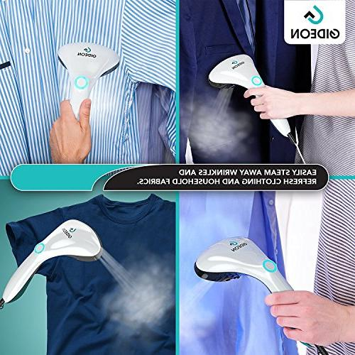 Gideon Handheld Steamer – Powerful with Fast Heat-up Includes Four Attachments - Perfect and Travel