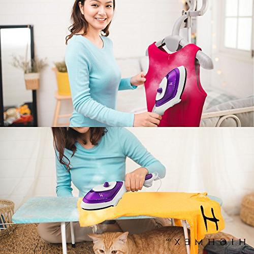 Portable Hand Held Clothing Steamer: Mini Iron for and Hand Steamer for or Travel Fast Steamer