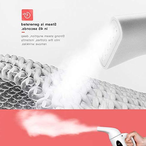 Suwikeke 180ml Clothes Handheld Steamer, Heat-up 800W Powerful Portable 10,