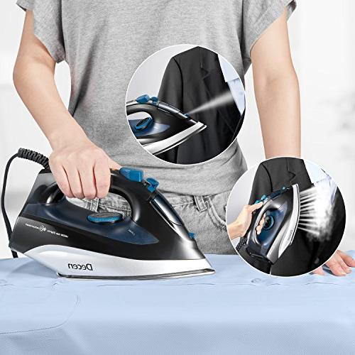 DECEN Iron, with Steam Compact Irons 1400W, Professional Iron
