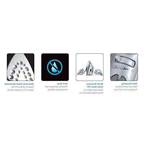 Shark Lightweight Steam auto-Off Cord Stainless Steel and watts,