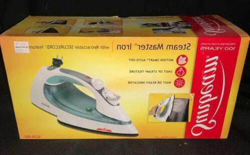 New  Sunbeam Steam Master Iron Anti-Drip with Retractable Co