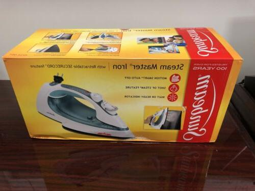 new steam master iron w retractable secure