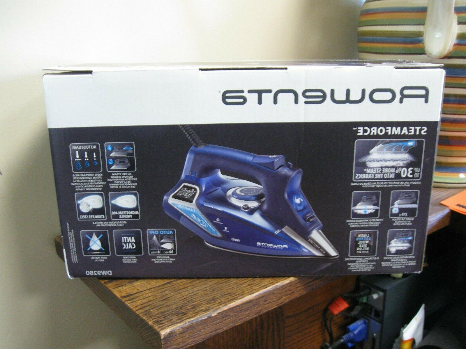 New! Rowenta Steamforce Iron Shut Off 1800W