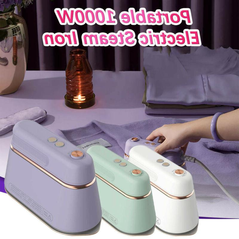 portable 1000w electric steam iron handheld fabric