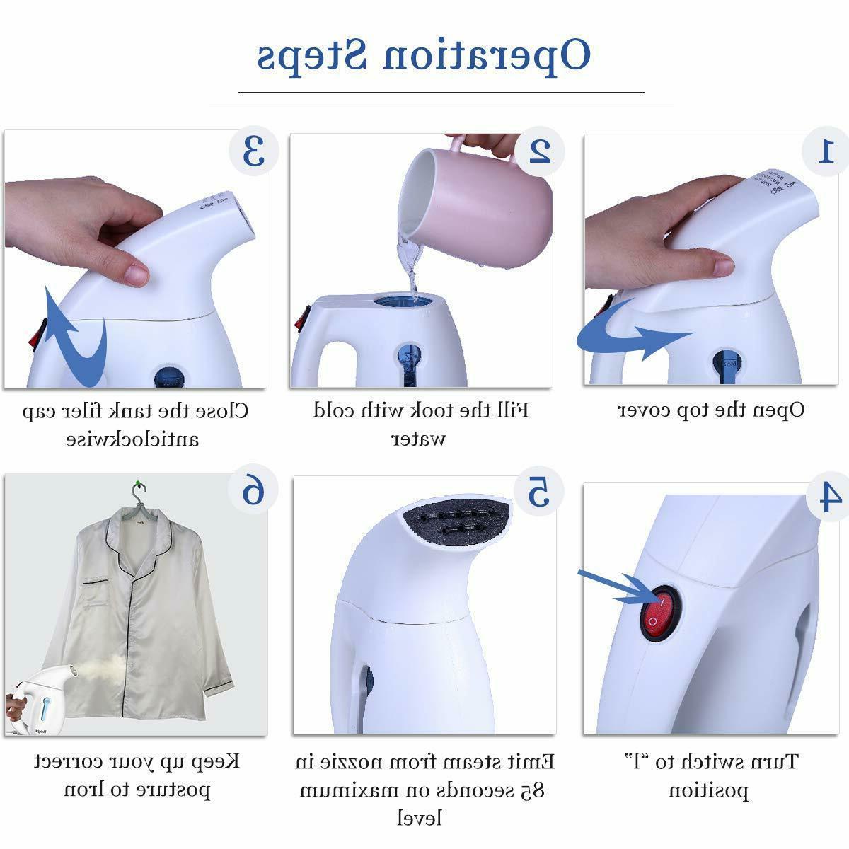 Portable Garment Fabric Travel Handheld Steam