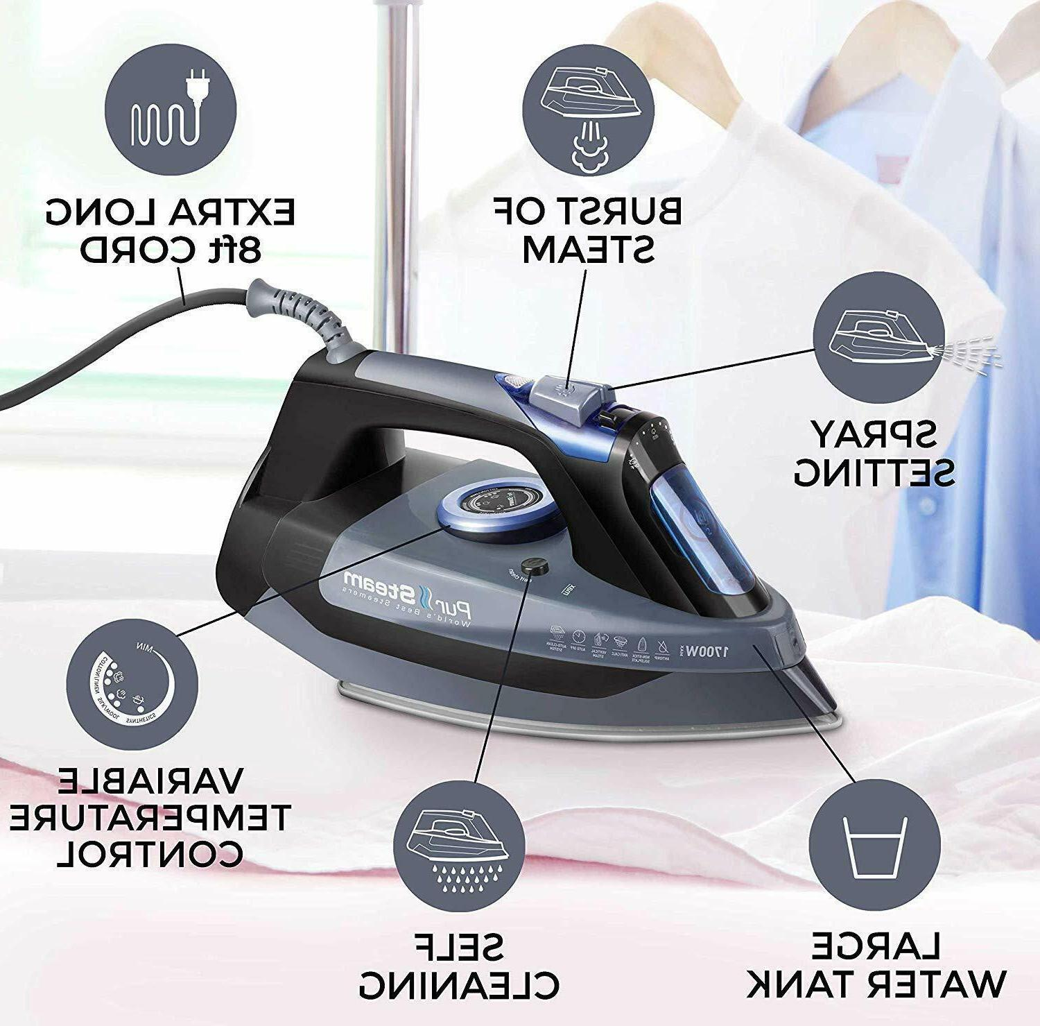 """""""Professional Steam Iron for Rapid Even Re"""