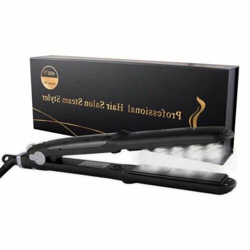 Professional Straightener Salon Steam Flat + Oil