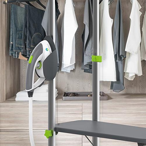 Steamfast Professional Iron with 33.8-Ounce Built-In Ironing Board and Garment Hanger