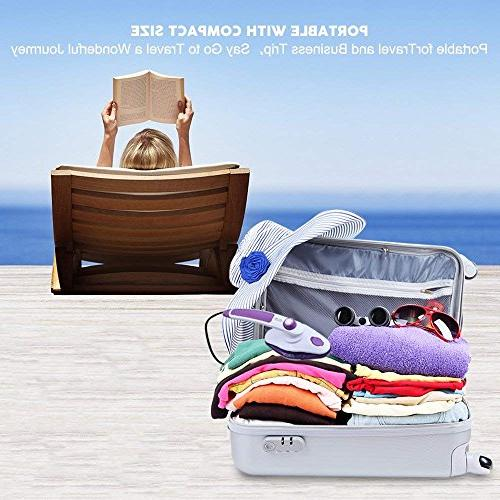 THZY Steam Handheld Garment Vertical Iron Powerful Portable Steamer with Adjustable Temperature Home and Purple