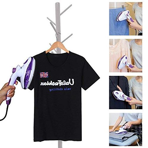 THZY Handheld Garment Iron Best Powerful Portable Adjustable Button for Home Purple