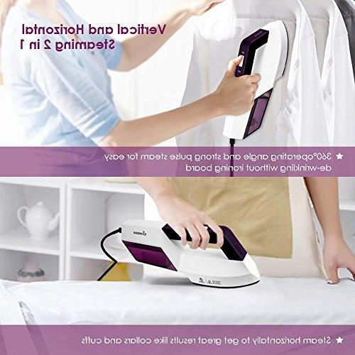 Easehold Steam Iron Garment Steamer 2 1 Flat and Dry and Steamer Travel