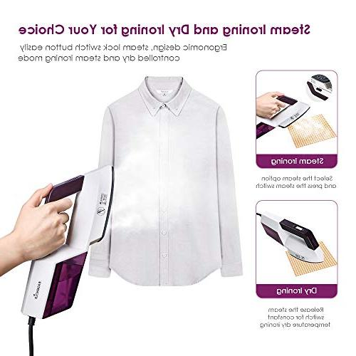 Easehold Iron Garment Steamer Clothes Steamer and Hang Dry and Steamer Travel Fabric