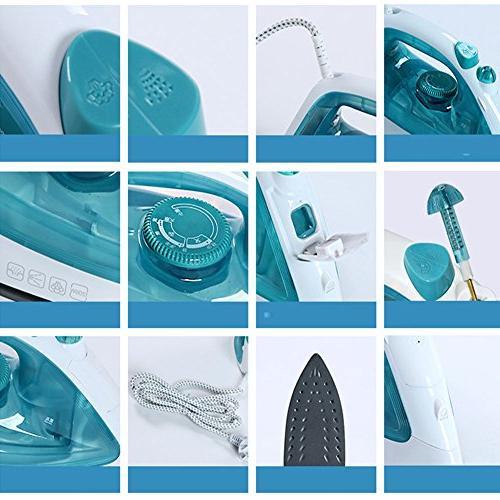 Emo Iron Non-stick Ceramic Steel Soleplate For Auto-off Blue