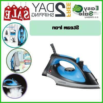 steam iron nonstick soleplate lightweight ironing travel